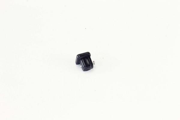 Cover caps Textile guide rail top, black, plastic, LiFe